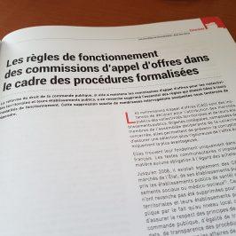 Les règles de fonctionnement des commissions d'appel d'offres dans le cadre des procédures formalisées